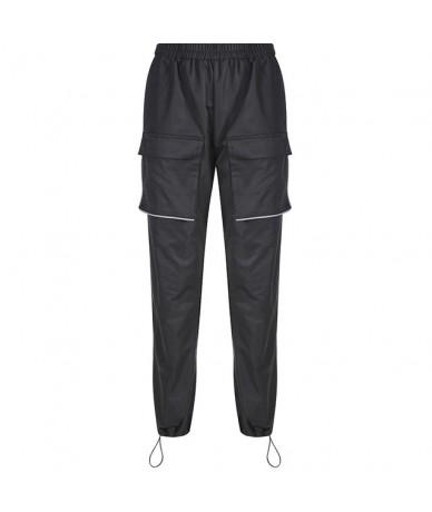 Reflective Strips Hip Hop Pants Women Harajuku Black Sweatpants Elastic High Waist Trousers Ladies Pockets Streetwear Jogger...