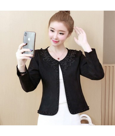 fashion plus size 3XL 4XL black women jacket 2019 O collar coat women short jacket long sleeve womens jackets and coats A956...