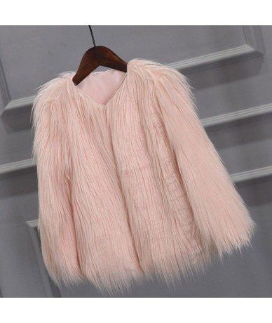 Plus Size 3XL Chaquetas Mujer Winter Autumn Fluffy Faux Fur Party Coats Women Elegant O-Neck Thick Warm Jackets WWC157 - Pin...