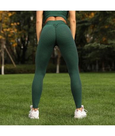 New Fashion Fitness Women's Gym Slim Leggings Printing Dots Stretch Pants Push Up Jeggings Female Sexy High Waist Pants - T1...