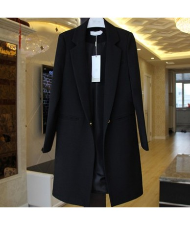 2019 Hot Sale Women Blazers And Jackets Spring Autumn Casual Long Women Suits Wide Waisted Solid Female Jacket Plus Size LX9...