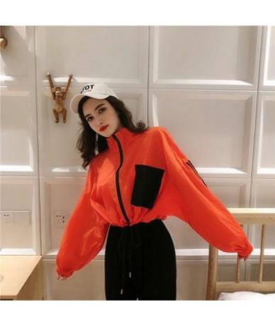 Korean Harajuku Style Summer Jacket Women 2019 New Hit Color Pocket Design Long Sleeve Summer Protection Coat Woman Bolero -...