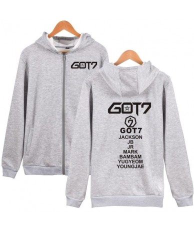 Got7 K-pop Hooded Sweatshirt Men Zipper Hoodies Autumn Hoodie Women Winter Long Fashion Casual Hip Hop Top Funny Clothes 4XL...