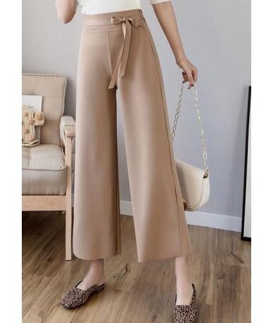 2019 Spring Summer Fashion Women Pants Female Casual Loose Solid Elegant Elasitc Waist Wide Leg Pant Office Lady Comfy Trous...