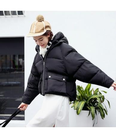 Winter Fashion Women Jackets Short Design Cute Cotton Padded Pink Coats Warm Hoodies Loose Padded Parkas Women Casaco Femini...