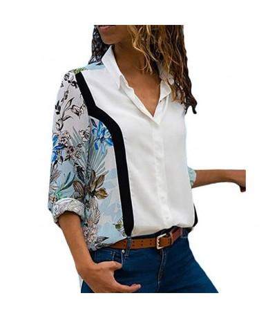 2019 Women Blouses Long Sleeve Turn Down Collar Tops Floral Blouse Ladies Striped Shirt Tunic Plus Size Blusas Chemisier Fem...