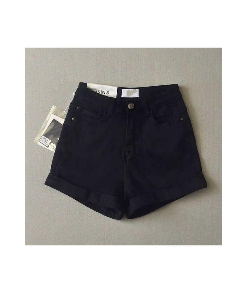 Sexy High Waist Women shorts Blue Black denim shorts feminino 2017 Skinny Jeans Short Summer Streetwear Party fitness shorts...