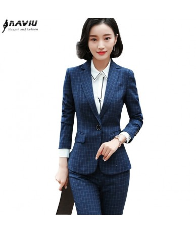 fashion 2 piece set women clothes 2019 new business slim blazer and pants sets office ladies Interview work wear - 453961966798