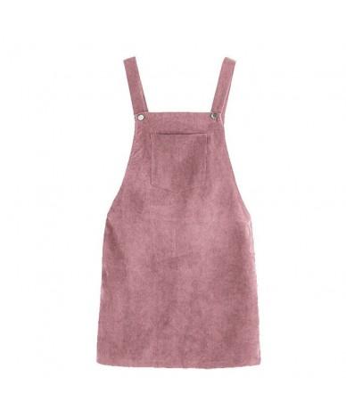 2019 Women Floral Retro Corduroy Skirt Summer Autumn Winter Suspender Overall Vest Jumpsuit Brace Skirts Korean Sleeveless S...
