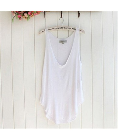 Durable 2019 New Fashion Summer Woman Lady Sleeveless V-Neck Candy Vest Loose Tank Tops T-shirt A2 - Sky Blue - 4X3764820216-4