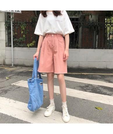 Korea 2019 Summer Fashion Female Loose Casual Loose Solid Fresh Thin Pockets Ladies Plus Size Harem Short 3 Colors - pink - ...