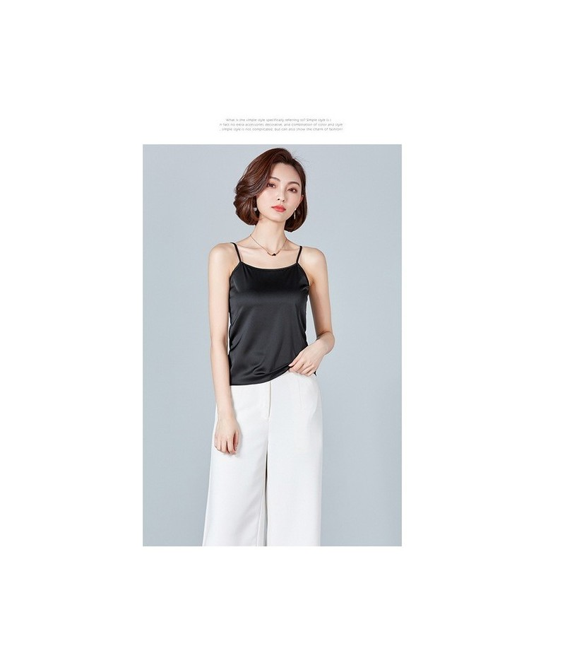 New Women Camis Summer tank tops Sleeveless solid color office lady casual Classic Basic style vest - Black - 4I3006449455-2