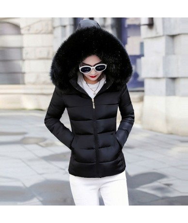 Winter jacket parkas New 2019 Korean women Big Fur cotton-padded jackets coat women's thick down cotton padded Warm Winter c...