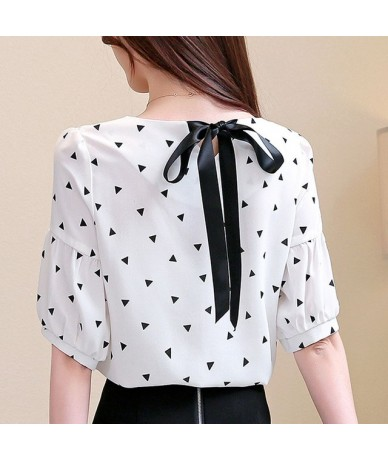 Women shirts 2019 chiffon blouse ladies tops pink and white blouse harajuku V-Neck lantern Sleeve shirt off shoulder top 316...