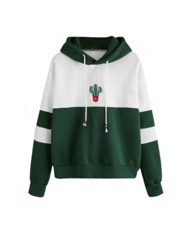 Womens Long Sleeve Cactus Print Hoodie Sweatshirt Hooded Pullover Tops Blouse Winter 8.16 - Green - 474166897245-2