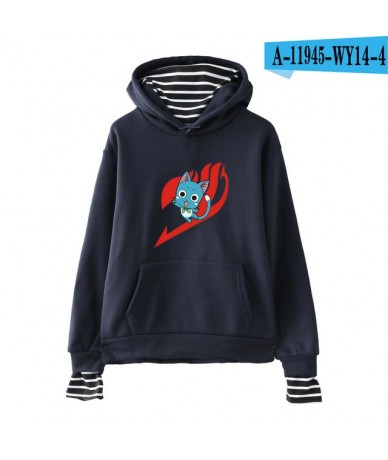 Fairy tail Women Hoodies Sweatshirts Fake Two Pieces Casual Harajuku New Pullovers Style Female Autumn Winter Hoodies - navy...