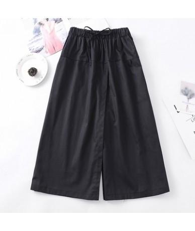 2019 Summer Plus Size 4XL Women Loose Wide Leg Pants European Style Bow Ladies Trousers Causal Drawstring Cotton Pant New Ca...