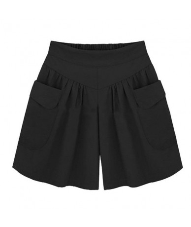 Hot ladies shorts Loose Hot Pants Pockets Pockets Women Summer Casual Shorts Lady short pants women feminino spodenki damski...