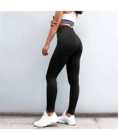 Leggings For Women Holes High Waist Fitness Sexy Push Up Legging Workout Slim Activewear Bodybuilding Jeggings Leggings - Z1...