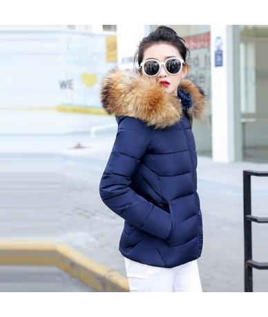 womens winter jackets New 2019 Parkas for women Wadded Jackets With a Hood Large Faux Fur Warm Winter Coat Women Plus size 5...
