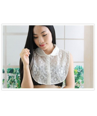 Korean shirt beaded sweater decorative collar Pearl Cute shirt Detachable Chiffon Original decorative letter lattice wild co...