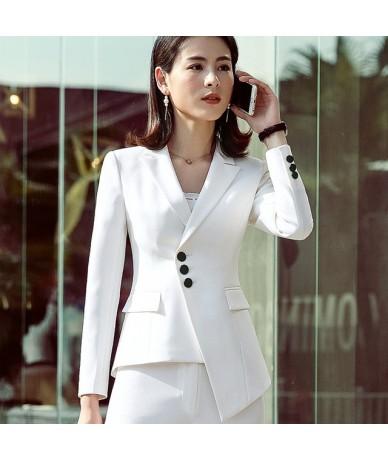 New career fashion women long sleeve blazer elegant plus size formal slim jackets office ladies plus size work wear white bl...