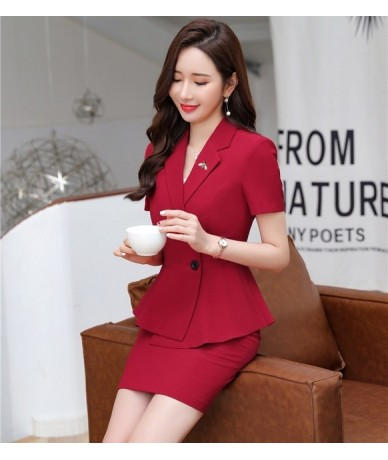 Summer Fashion Female Skirt Suits for Women Busiiness Suits Black Blazer and Jacket Set Professional Office Uniform Styles -...