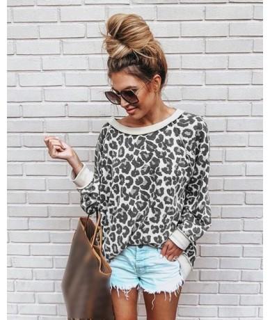 Leopard Print Women Sweatshirt Casual O Neck Long Sleeve Woman Clothes Fashion Sweat Femme Pullovers Hoody Ladies Dropshippi...