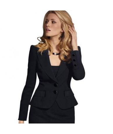 Ladies Elegant Blazer Long Sleeve Blaser Women Suit jacket Female Feminine Blazer Femme Pink Blue White Black Blazer Autumn ...