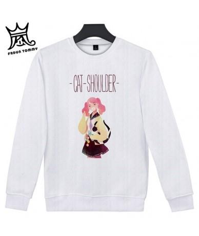 How to own a Cat Casual Harajuku Kawaii Black Cat Sweatshirts Women Long Sleeve Turtleneck Tops Pullover Funny Cartoon Hoodi...