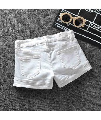 Plus Size 3XL White Denim Shorts Women 2019 Summer Stretch High Waist Short Jeans Sexy Short Femme Denim Trousers Women C404...