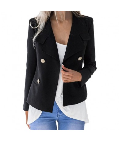 Classic Solid Open Front Cardigan Women Jacket Blazer Notched Collar Female Suits Coat Fashion Streetwear blazer damen z0603...