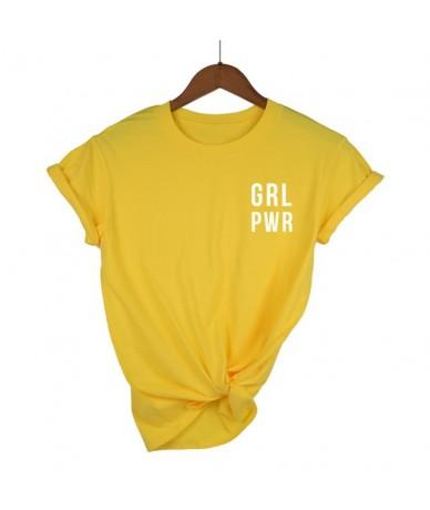 Hipster Feminist Slogan T-Shirt Female Crew Neck Summer Tops Women Tshirt Girl Power pocket Short Sleeve T Shirt - yellow 1 ...