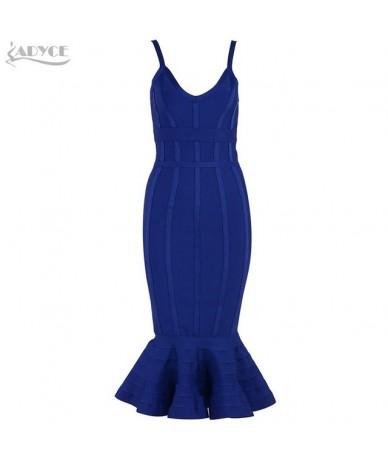 Women Summer Bandage Dress 2019 Pink Spaghetti Strap Mermaid Vestidos V-Neck Midi Clubwears Celebrity Evening Party Dress - ...