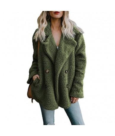 New Solid Coat Women Autumn Winter Wide Lapel Loose Warm Outwear Female Casual Jumper Ladies Loose Blend Coat Faux fur Ladie...