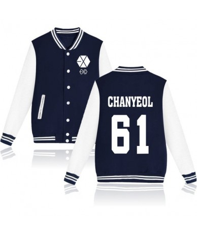 2017 EXO Kpop jaquetas feminino casaco Printed Hoodies bomber jacket baseball jacket Men/Women Tracksuit Jacket - CHAN YEOL ...