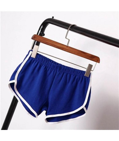 Hot Women Cotton Blend 2019 Summer Short Pants Contrast Binding Side Split Elastic Waist Patchwork Casual Beach Party Shorts...