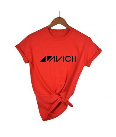 2019 Avicii DJ Logo Summer T-shirt Women Cotton Short Sleeve Print Fans Club Casual Hip Hop T Shirt Women Tshirt Tops - red ...