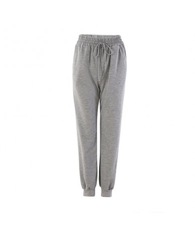Classic Harem Pants for Women 2019 Basic Sweatpants Black Loose Women's Pants Casual Ladies Pants Harem Spring - Gray - 4Z30...