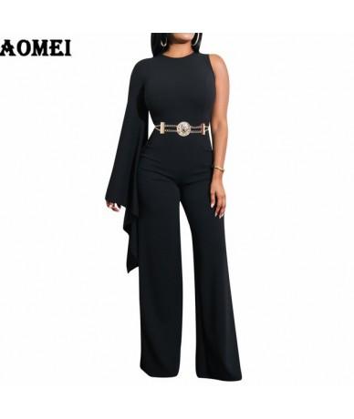 Women White Jumpsuit Romper One Shoulder Overalls Officewear Combinaison Fashion Female Wear Jumpsuits For Elegant Lady Clot...