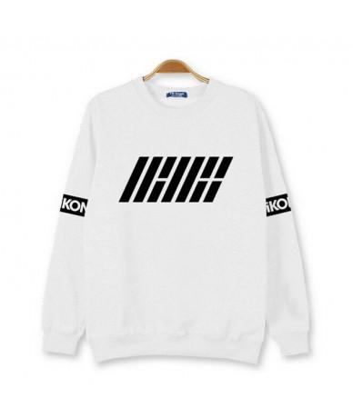 2015 autumn new arrival kpop new idol group ikon first album hoodies black white member name printed o neck pullover sweatsh...