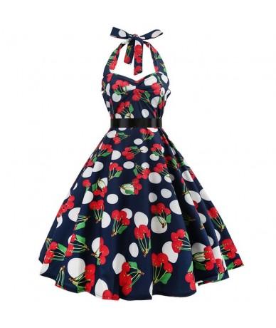 Sexy Halter Party Dress 2018 Retro Polka Dot Hepburn Vintage 50s 60s Pin Up Rockabilly Dresses Robe Plus Size Elegant Midi D...