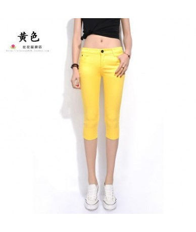 2019 Summer Women Casual Skinny Capris Jeans Trousers Female Stretch Mid Elastic Calf-Length Trousers Size Plus shorts Pants...