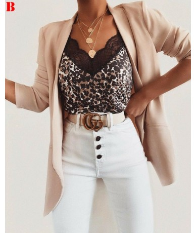 New Fashion Womens Summer Camis Tops Lace V-neck Leopard Patchwork Female Strappy Crop Top Tank Tops Sexy Clubwear Camis Top...