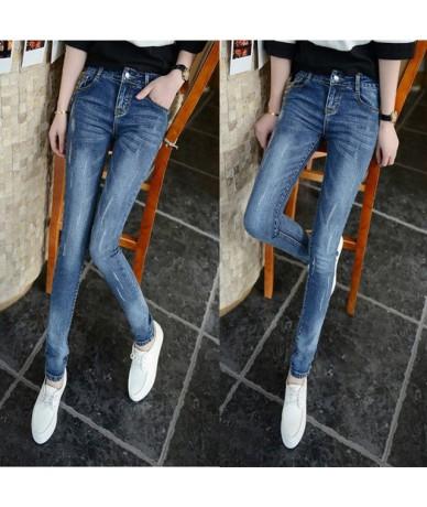 Jeans Woman High Waist Plus Size Stretch summer autumn full Length Skinny Slim denim Pants for women black blue - 6 - 4A4144...