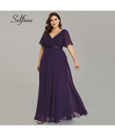 Plus Size Long Dress For Wedding Party For Woman 2019 Robe Femme New Elegant A Line V Neck Short Sleeve Summer Beach Dress B...