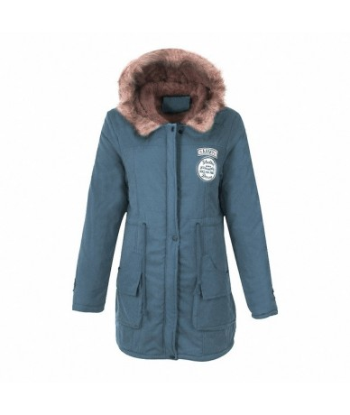 2019 Women Fashion Parkas Winter Jackets Coats Faux Fur Hooded Collar Casual Long Parkas Cotton Wadded Laidies Overcoat - co...
