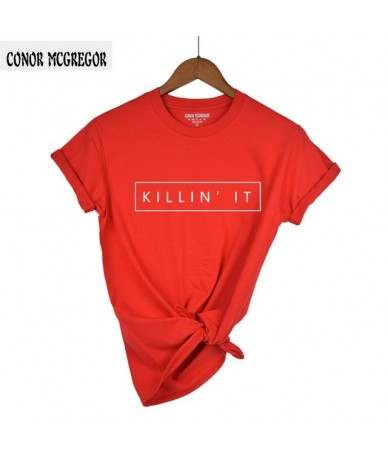 100% Cotton Killin It Fashion Women T shirt Tops Harajuku Tee White Black Short Sleeve tshirts Casual Night Club Clothing - ...