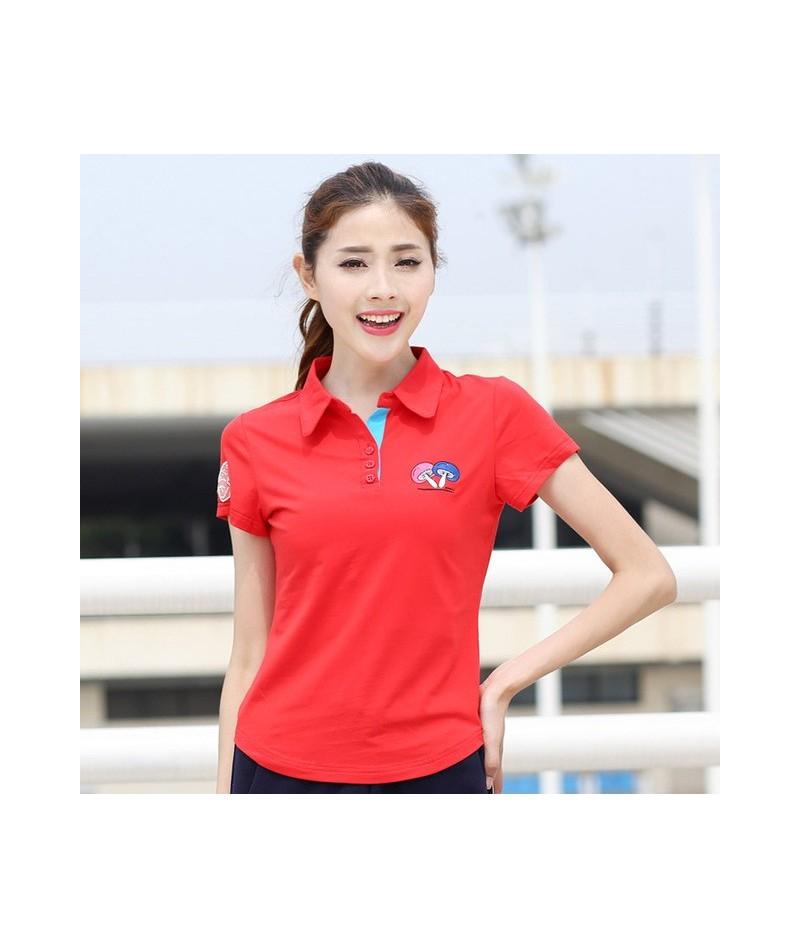 Women Polo Shirts Short Sleeve shirts Embroidery Pattern Casual Women Shirts Women Tops Cotton Women Tees Female Shirts BJ04...