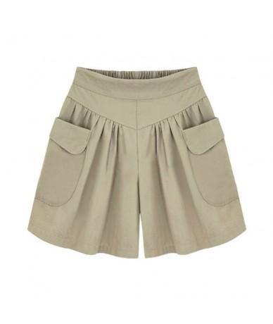 2018 Summer Loose Casual Shorts Women Plus Size High Waist Shorts Fashion Skirt Shorts Beach Large Size Shorts For Women - A...